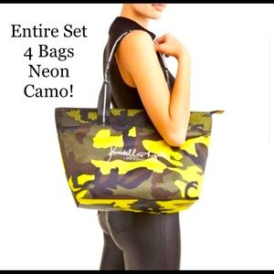 **Set of 4 NEW BAGS. Neon Camo Kendall + Kylie!